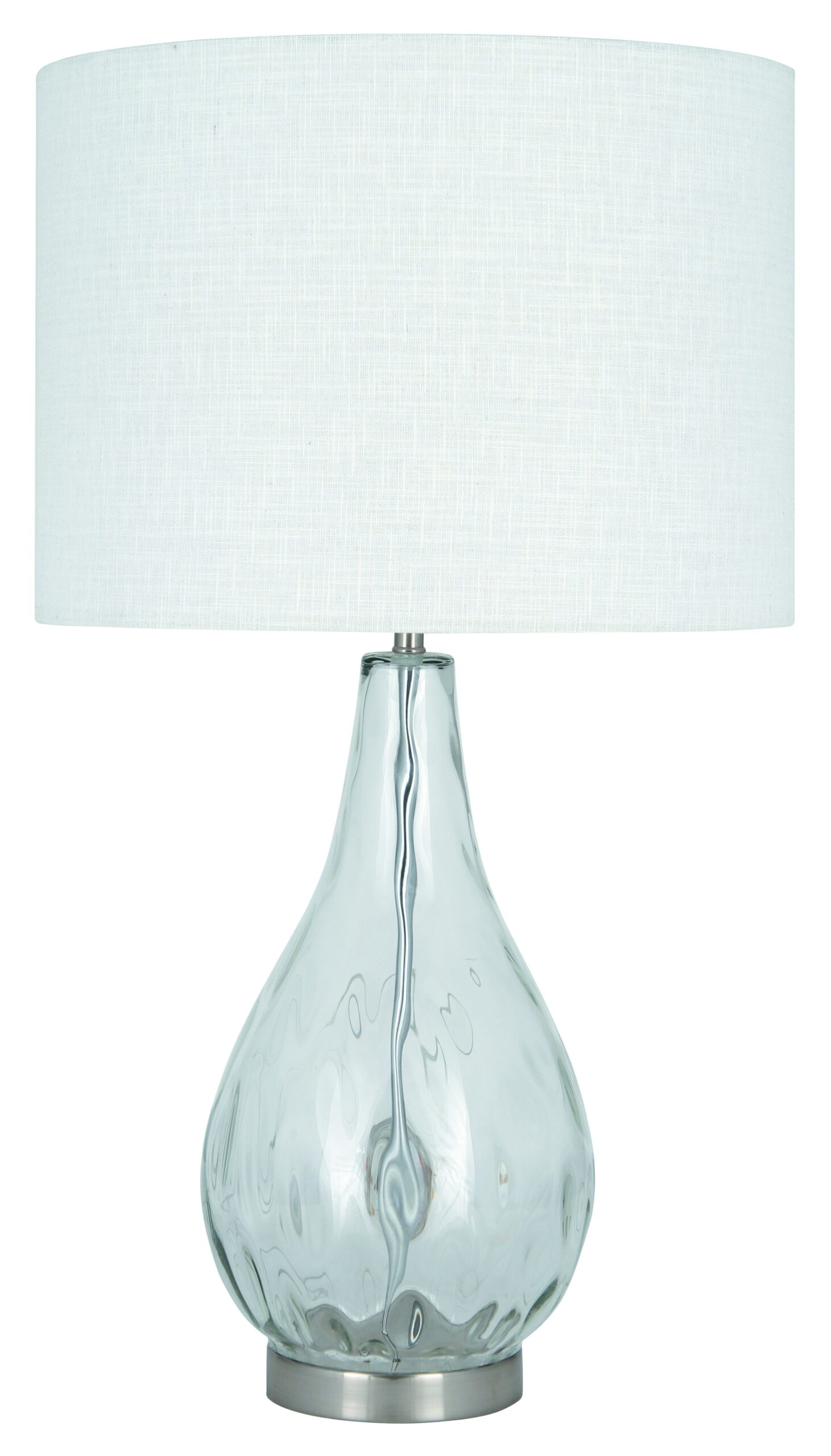 Picture of: Clear Dimple Glass Table Lamp Complete 3039 0246